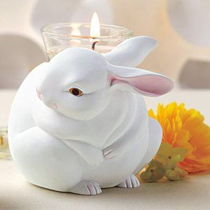 New Nature's Lova Momma Bunny Candle Holder